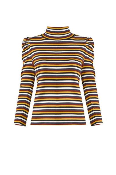 Veronica Beard - Cedar Multi Stripe Turtleneck Top