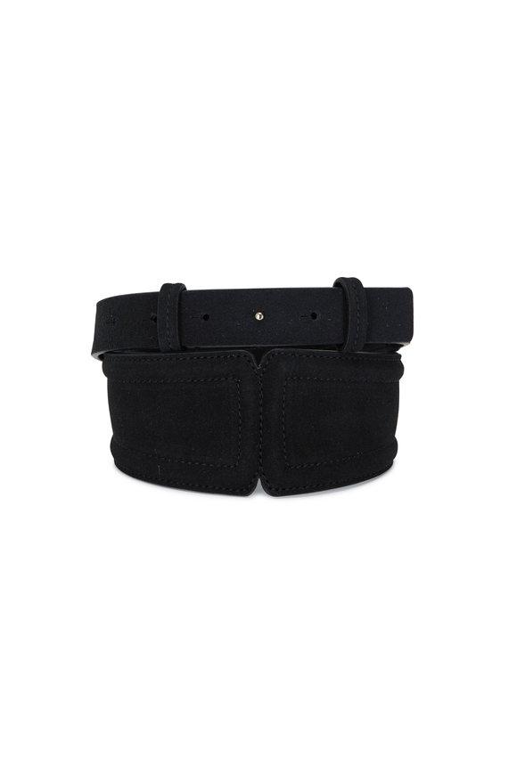 Veronica Beard Kierra Black Leather Belt