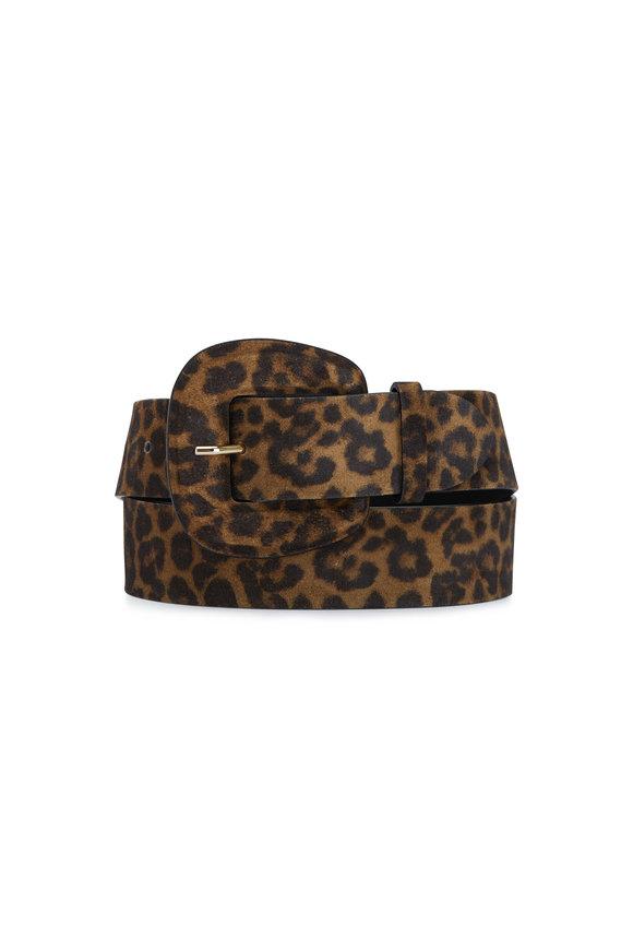 Veronica Beard Elsy Leopard Print Leather Belt