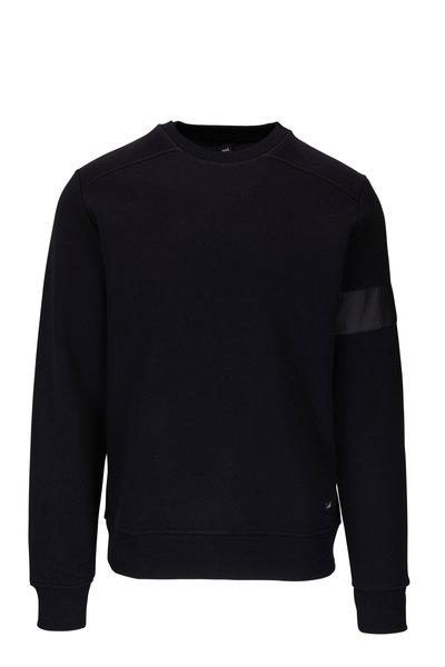 WAHTS - Moore Matte Black Banded Sweatshirt