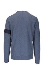 WAHTS - Moore Steel Blue Melange Banded Sweatshirt