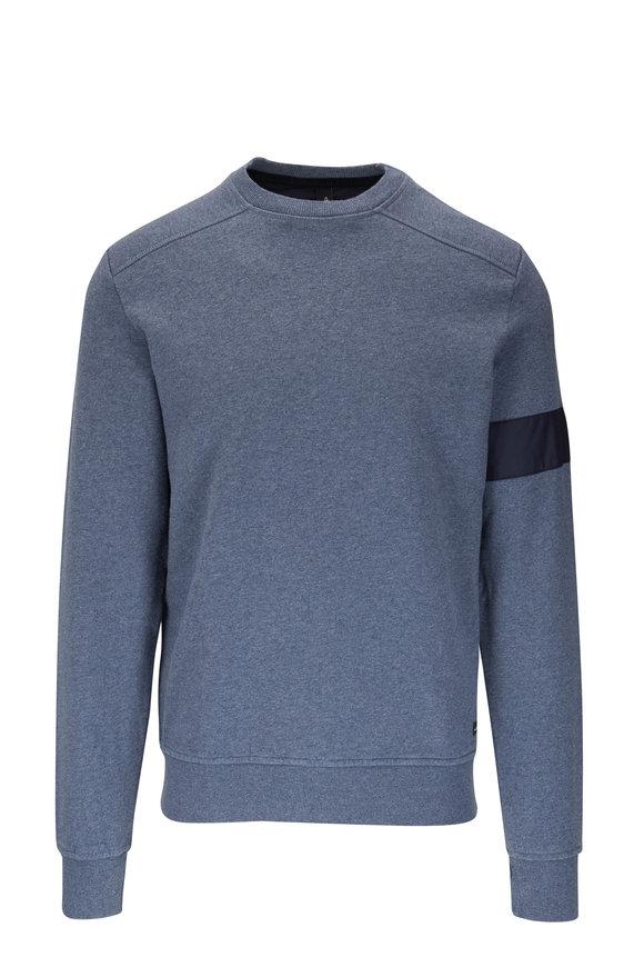 WAHTS Moore Steel Blue Melange Banded Sweatshirt