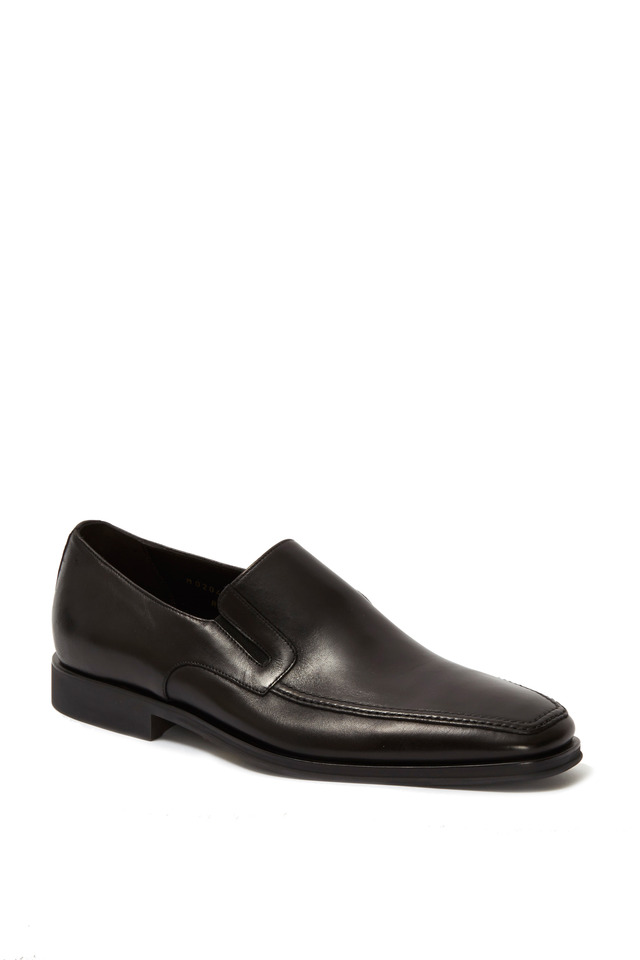 Raging Black Leather Loafer