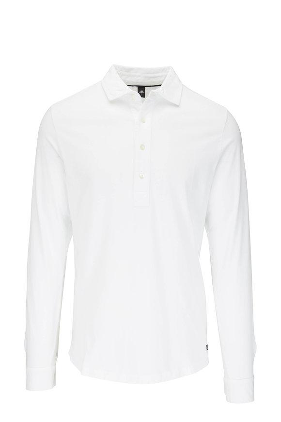 WAHTS Norton Pure White Long Sleeve Polo