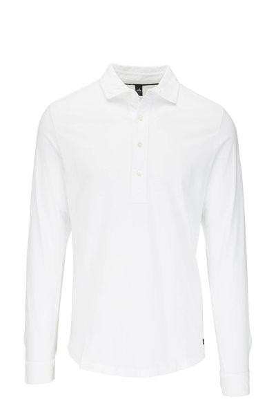 WAHTS - Norton Pure White Long Sleeve Polo