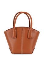 Tod's - Manici Brown Leather Mini Tote Handbag