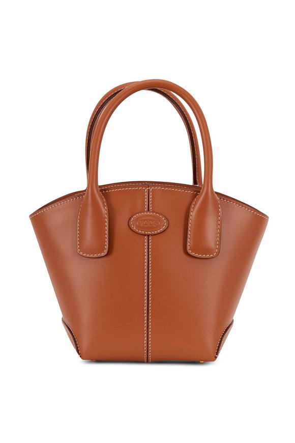 Tod's Manici Brown Leather Mini Tote Handbag