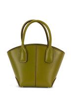 Tod's - Manici Green Leather Mini Tote