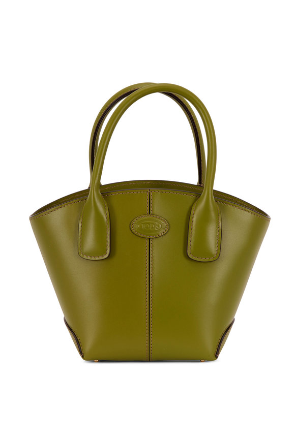 Tod's Manici Green Leather Mini Tote