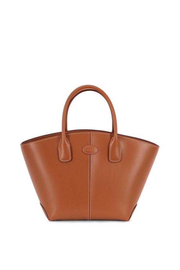 Tod's Manici Brown Leather Medium Tote Handbag