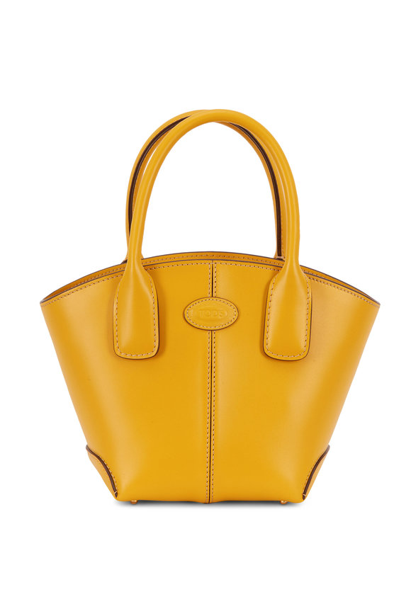 Tod's Manici Yellow Leather Mini Tote