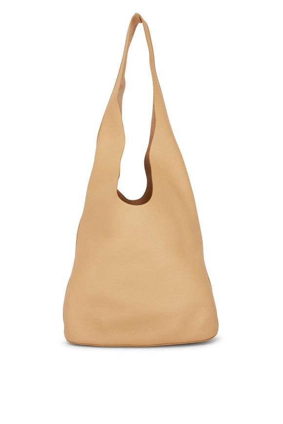 The Row Camel Leather Bucket Bag