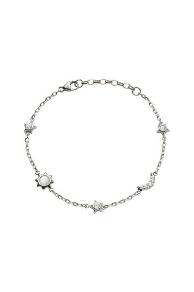 Monica Rich Kosann - Sterling Silver Sun, Moon & Stars Bracelet
