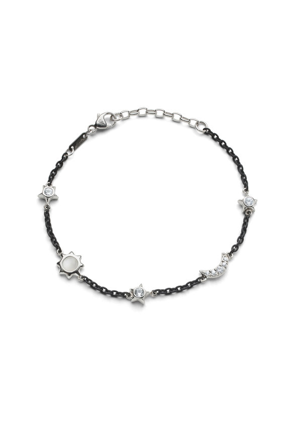 Monica Rich Kosann Black Steel Sun, Moon & Stars Bracelet