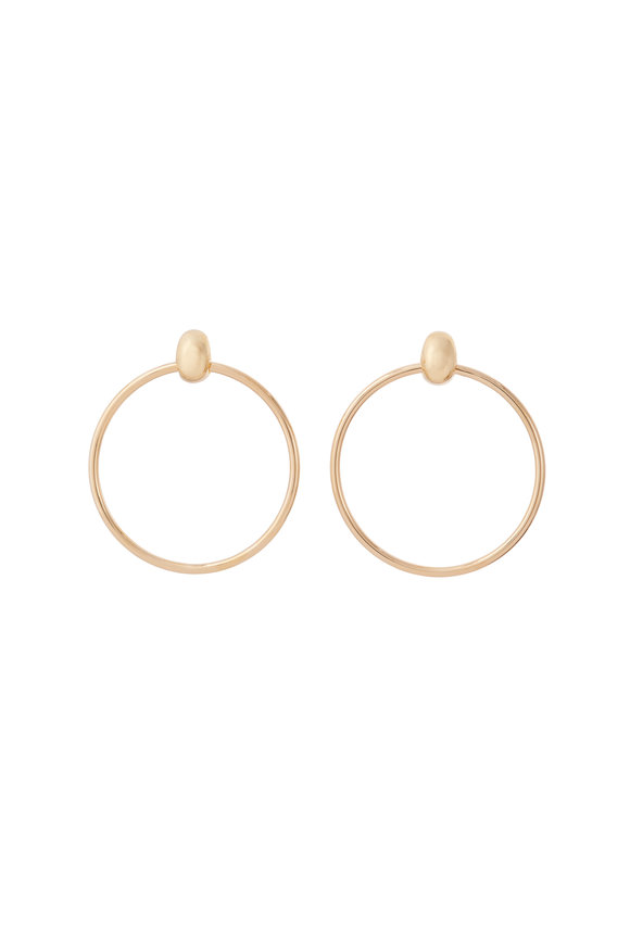 Sidney Garber 18K Yellow Gold Door Knocker Earrings