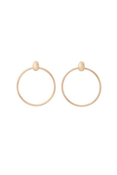Sidney Garber - 18K Yellow Gold Door Knocker Earrings