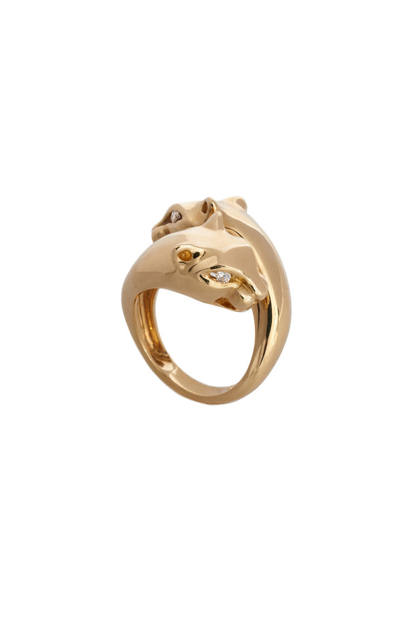 Sidney Garber 18K Yellow Gold Passionate Panther Ring