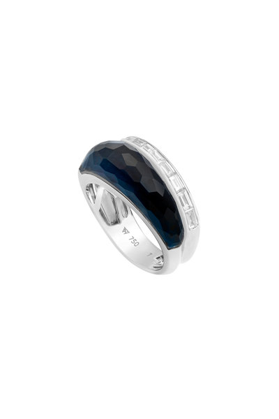 Stephen Webster - 18K Gold, Falcon's Eye Crystal Haze & Diamond Ring