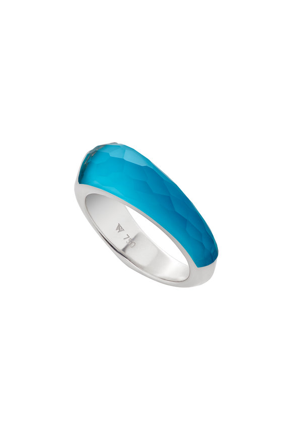 Stephen Webster 18K Gold, Turquoise Slimline Crystal Haze Ring