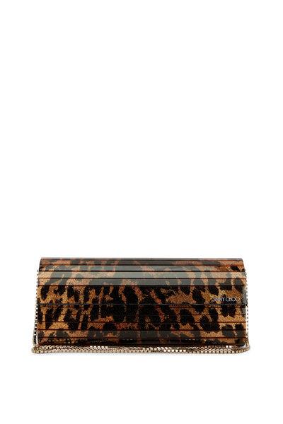 Jimmy Choo - Sweetie Leopard Glitter Clutch