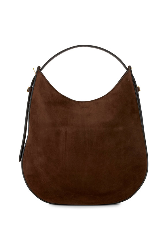 Tod's Brown Suede Medium Hobo Bag