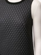 Paule Ka - Black Quilted Front Sleeveless Dress