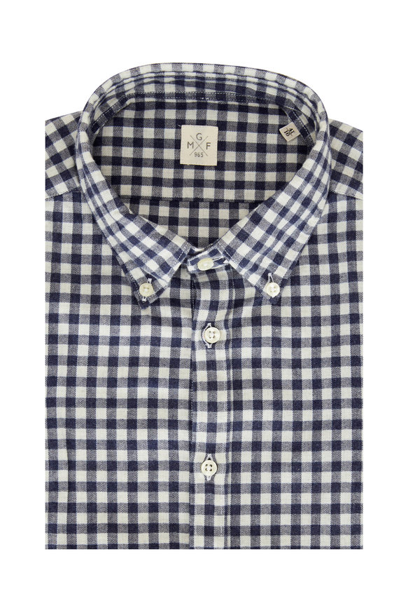 GMF Blue Gingham Sport Shirt