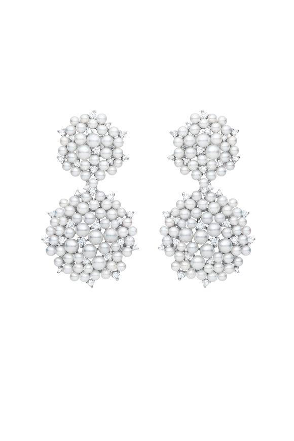 Paul Morelli 18K White Gold Lagrange Pearl Dangle Earrings