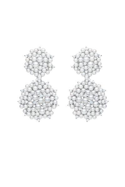 Paul Morelli - 18K White Gold Lagrange Pearl Dangle Earrings