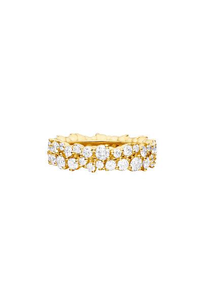 Paul Morelli - Yellow Gold Diamond Confetti Ring