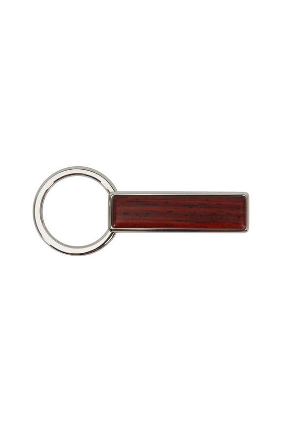 M-Clip Bubinga Dark Brown Wood Keychain