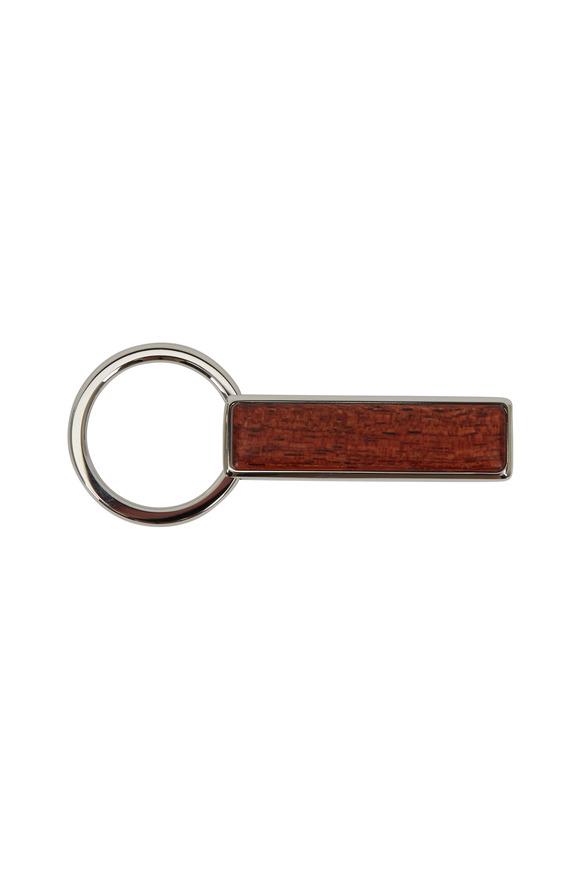 M-Clip Cocobolo Dark Brown Wood Keychain