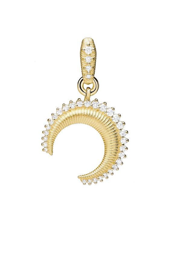 Paul Morelli 18K Yellow Gold Small Crescent Moon Charm