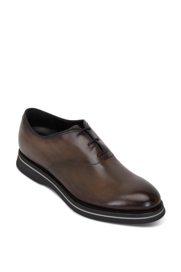 Berluti Padova Ice Brown Leather Lace Up Dress Shoe