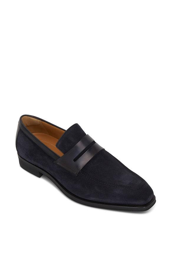Berluti Navy Blue Suede Loafer