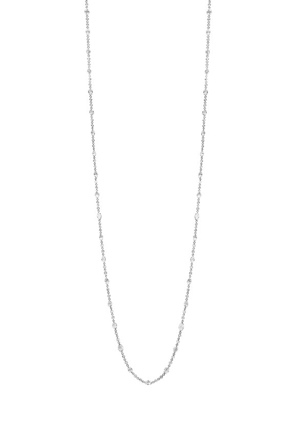 Paul Morelli 18K White Gold Diamond String Necklace