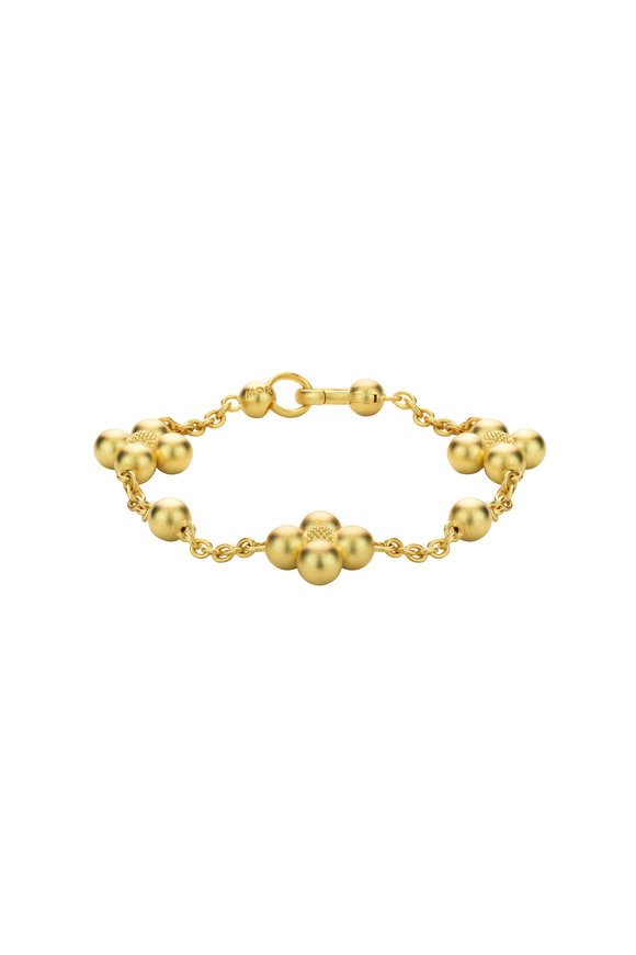 Paul Morelli 18K Yellow Gold Ball Sequence Chain Bracelet