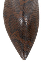 Paris Texas - Brown Python Leather Knee High Boot, 80mm