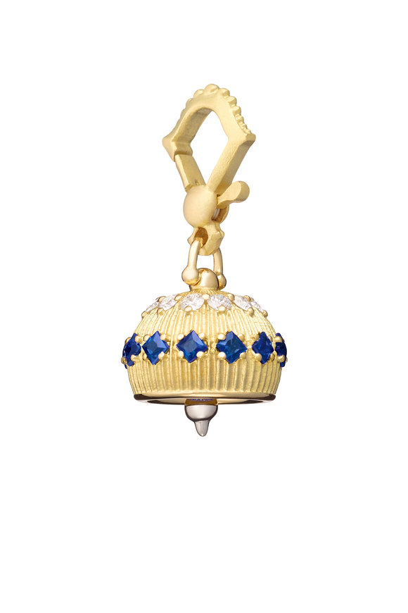 Paul Morelli 18K Yellow Gold Sapphire Meditation Bell