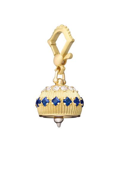 Paul Morelli - 18K Yellow Gold Sapphire Meditation Bell