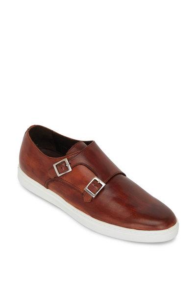 G Brown - Jaxon Tan Leather Double Monk Strap Shoe
