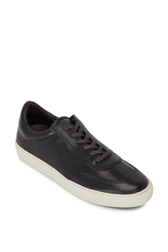 G Brown Flight 813 Smoke Leather Sneaker