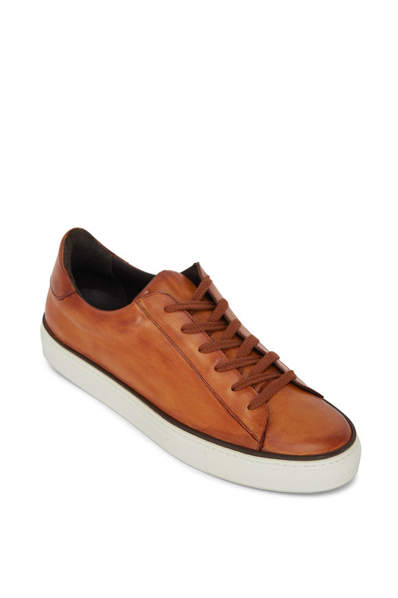 G Brown Os Tan Leather Sneaker