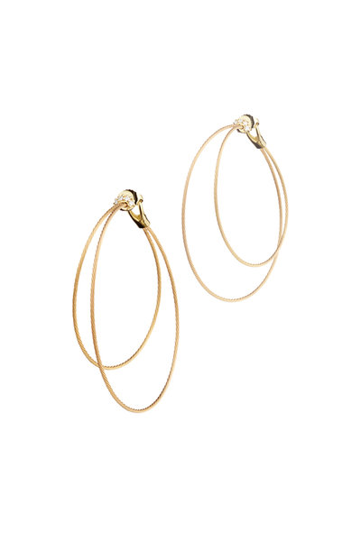 Paul Morelli - 18K Yellow Gold Double Hoop Wire Earrings