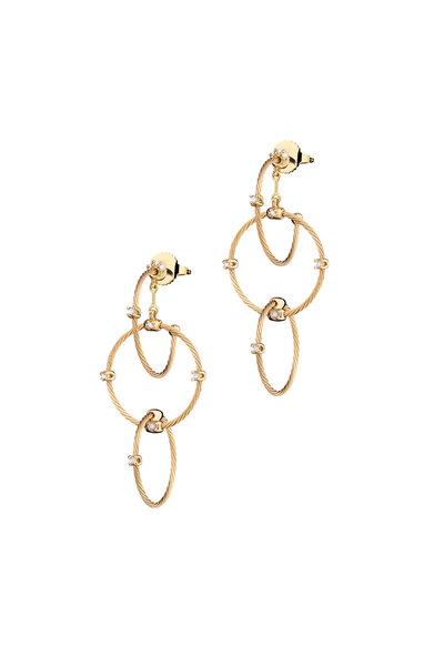 Paul Morelli - Yellow Gold Medium Rain Earrings
