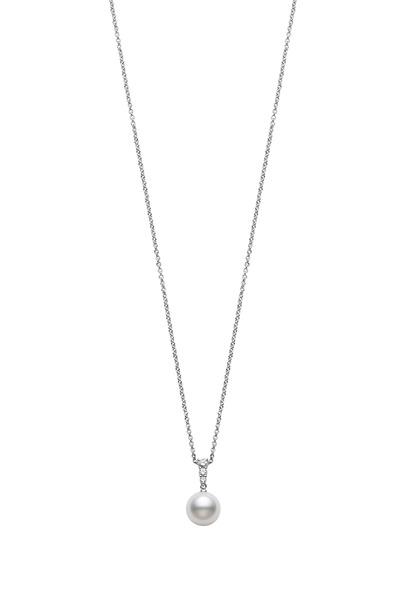 Mikimoto - Morning Dew White Gold Diamond Pendant