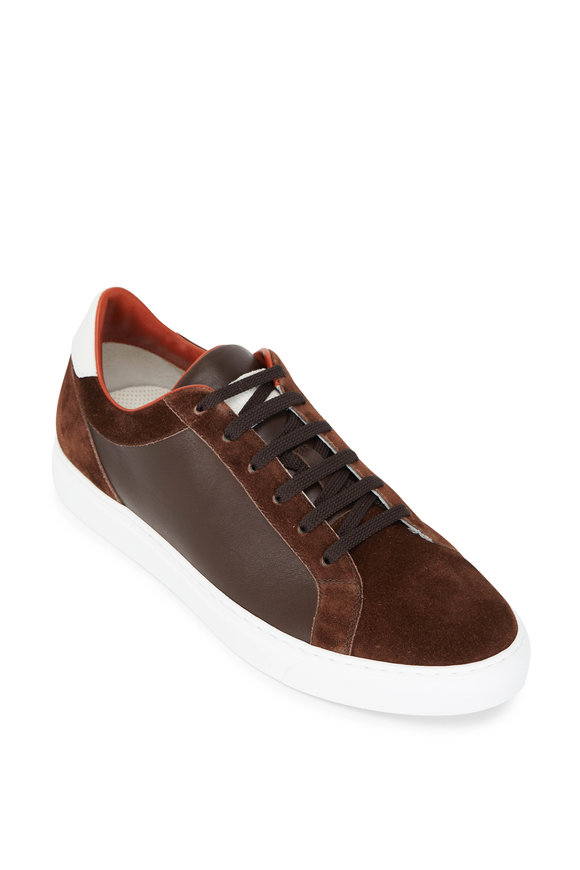 Brunello Cucinelli Brown Suede & Leather Air Sole Sneakers
