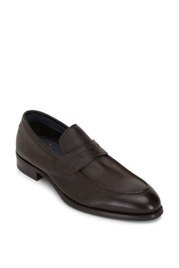 Di Bianco Brera Dark Brown Leather Penny Loafer