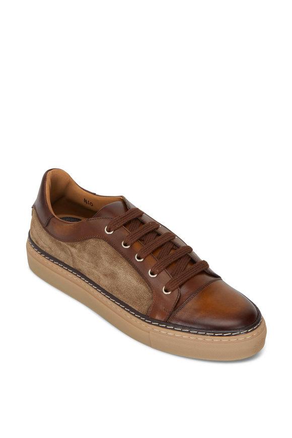 Di Bianco Serena Reverse Sombrero Leather & Suede Sneaker