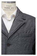 Canali - Gray Chevron Water Repellant Quilted Blazer